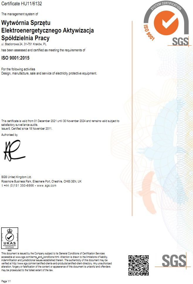 certificate of the Integrated Management System